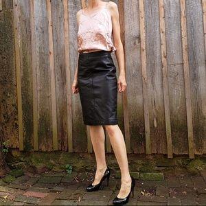 Issac Mizrahi Genuine Leather Pencil Skirt SZ 6